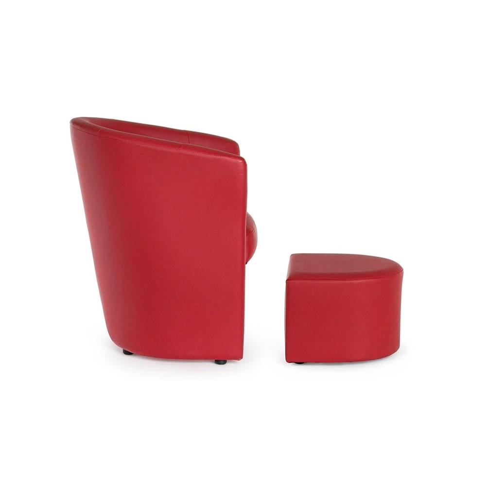 POLTRONA CON POUF Design cod. A015620 - Cogal Home