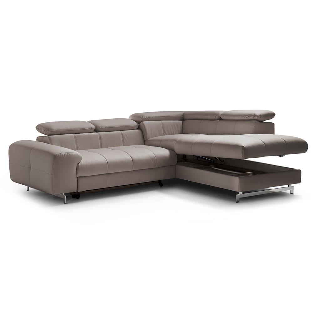 divano letto angolare destro design cod. a009619 - cogal home - Divano Letto Angolare Con Contenitore