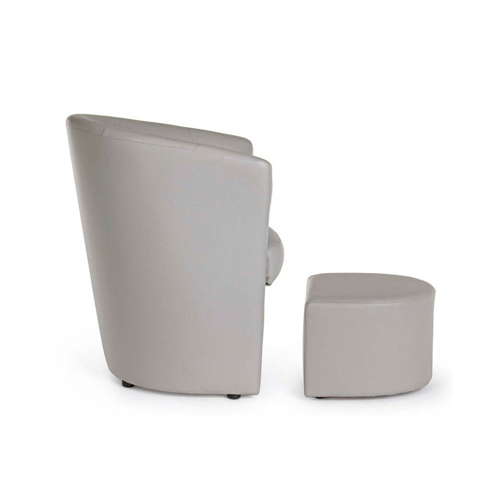 POLTRONA CON POUF Design cod. A015621 - Cogal Home