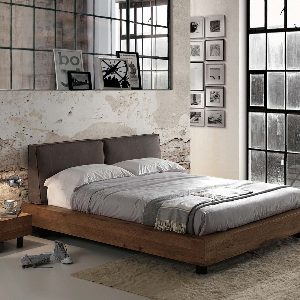 LETTO MATRIMONIALE Industrial cod. A014126 - Cogal Home