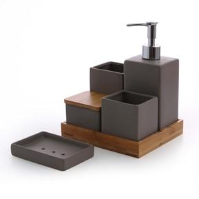 Accessori bagno: dispenser sapone, portaspazzolini